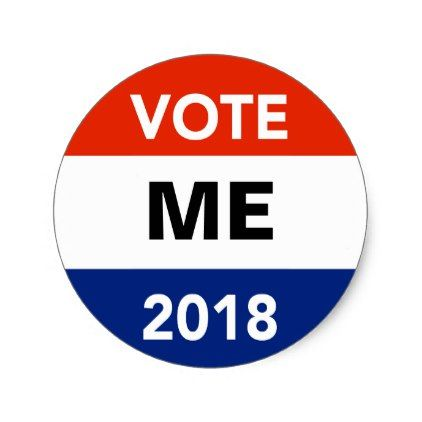 Personal vote 2018 midterm election campaign classic round sticker round stickers