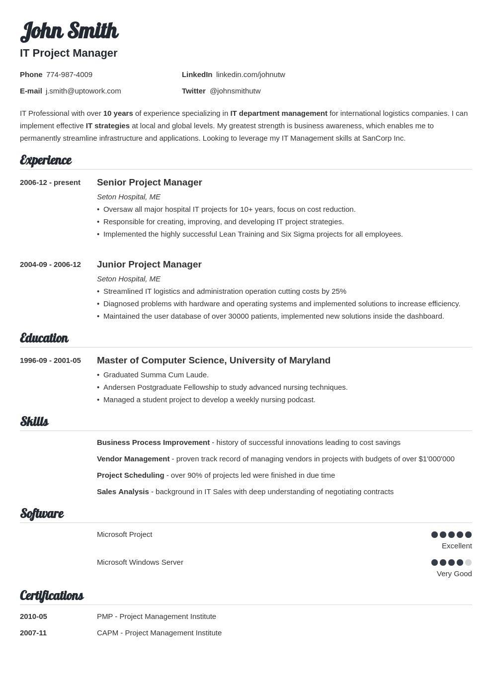 Free Resume Templates Uptowork Resume templates, Resume