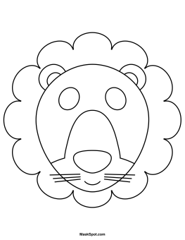 Lion mask to color teatro mascaras 1 pinterest for Lion mask coloring page