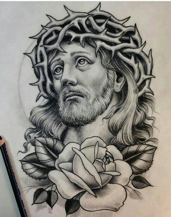 Jesucristo Tatuaje De Cristo Tatuaje De Jesús Dibujos De Jesús