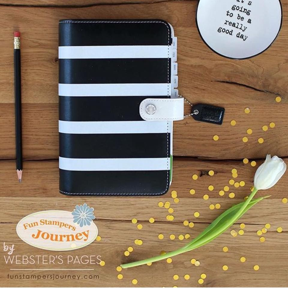 Fun Stampers Journey has partnered up with Websters Pages to bring you this beautiful #planner #planneraddict #plannernerd