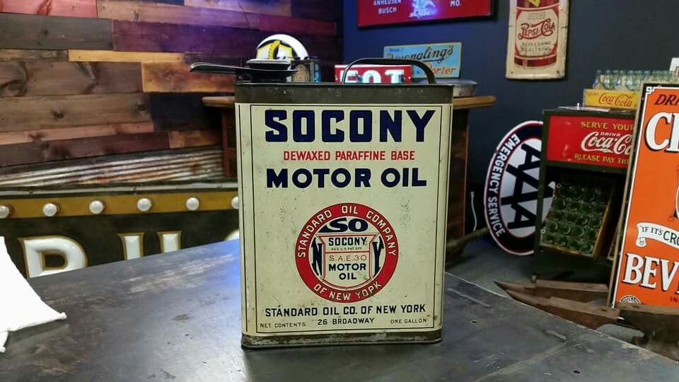 Early Socony Motor Oil Can