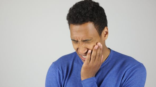Image result for black man with toothache