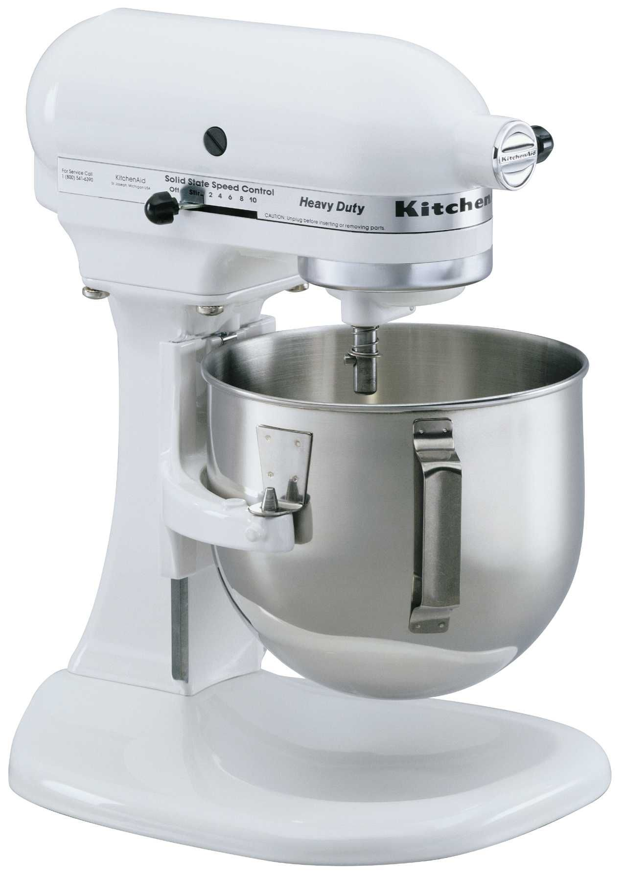 kitchenaid k5sswh heavy duty series 5 quart stand mixer white my rh pinterest com