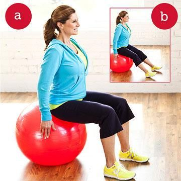 easy exerciseball workout  ball exercises exercise