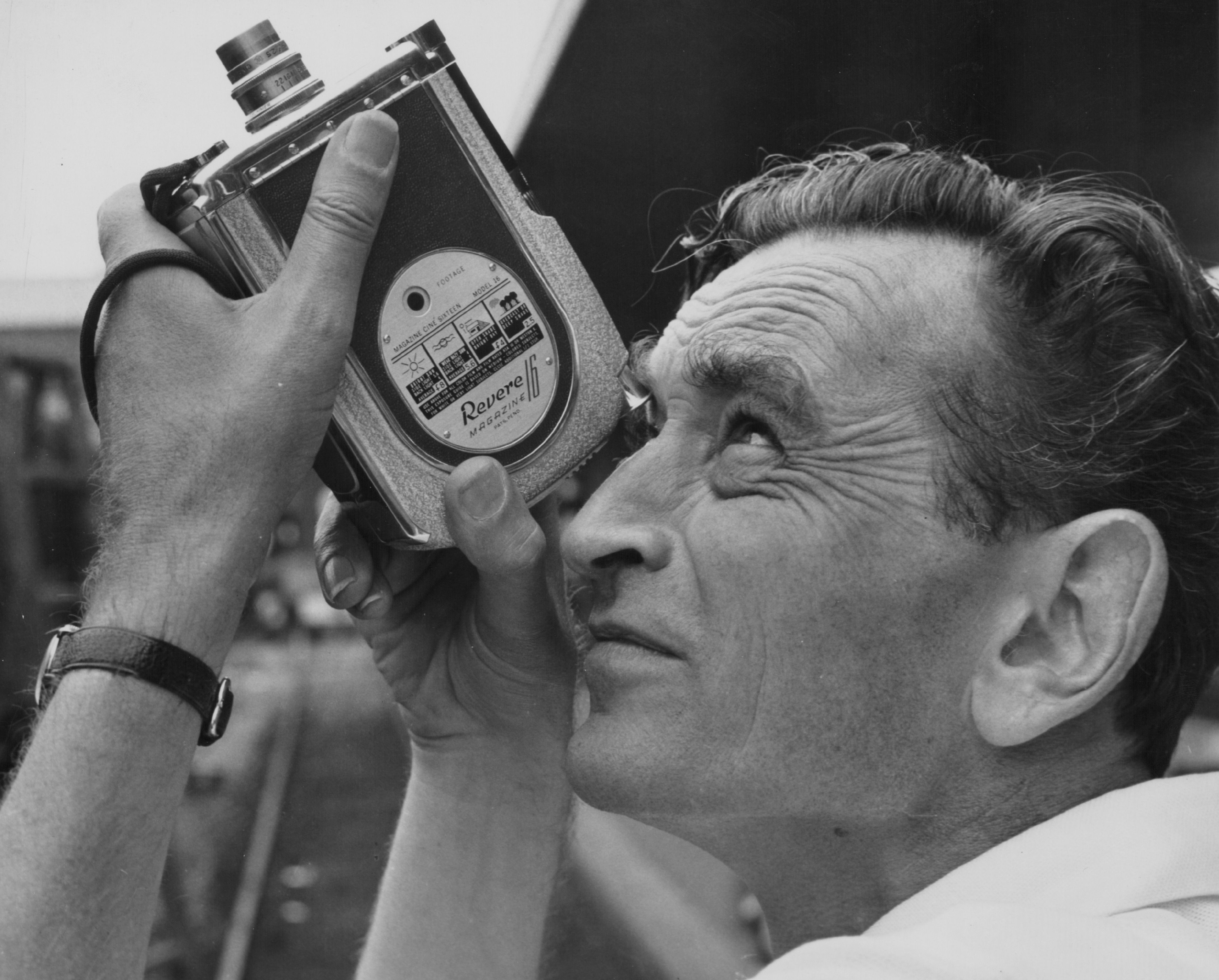 English Director David Lean Pictured On The Set Of A Film Using A