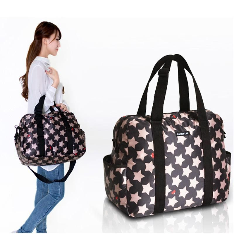 Baby diaper bag waterproof stroller bag for nappy changing Five-pointed  star mother maternity tote 1296aba065