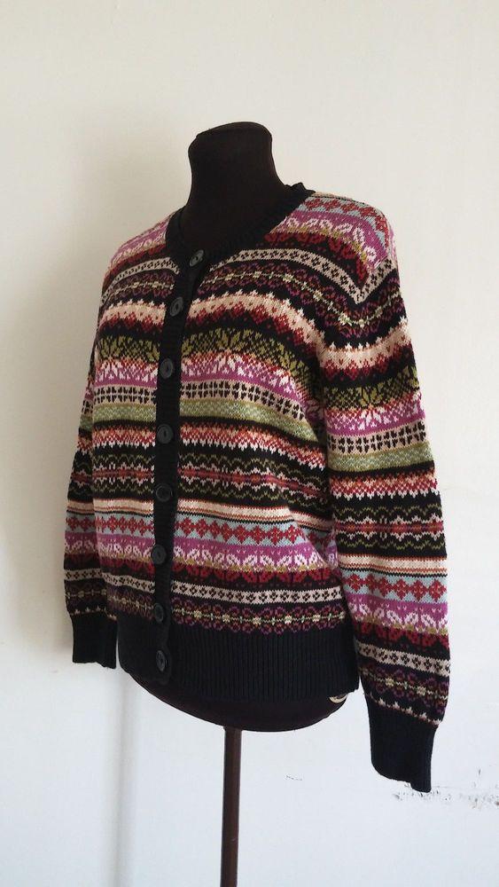 Womens Sweater by Tiara International Design Size M fair Isle ...