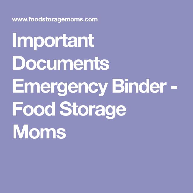 Important Documents Emergency Binder