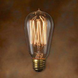 Bulbrite 134019 40w Nostalgic Edison Squirrel Cage Style Bulb