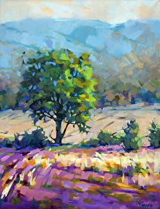 Lavender and Grasses by Trisha Adams Oil ~ 40 x 30