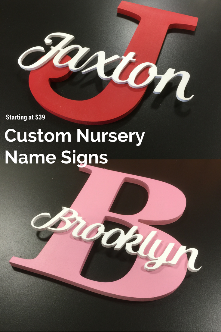 Wooden Name Sign Nursery Decor Plaque
