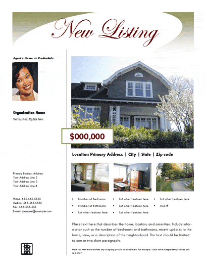 Real Estate Flyer Ideas New Listing Flyer Luxury Design 2
