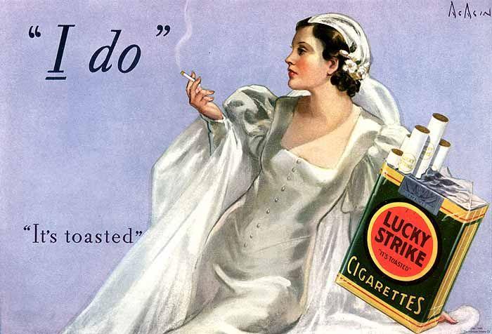 Kết quả hình ảnh cho Neysa McMein Lucky Strike cigarettes