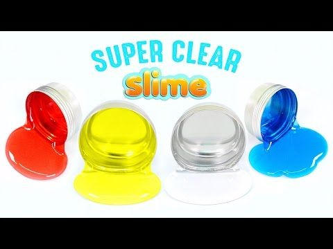 How To Make Super Clear Slime Diy Crystal Colors Liquid Without Borax Easy Learn You
