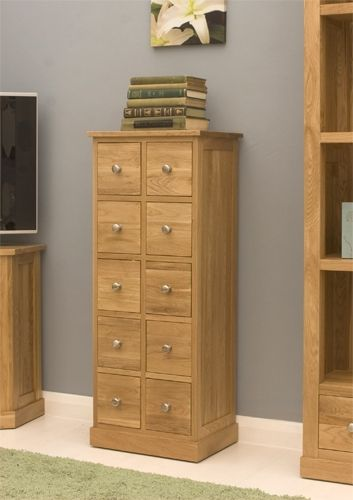 multi drawer dvd cd storage chest mobel oak cor17csuperb contemporary multi purpose oak chest of drawersthe overall dimensions of the chest are h104 x w42