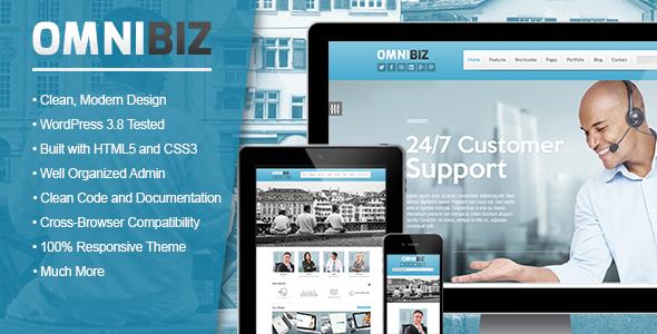 Elegant Corporate WordPress Theme Business
