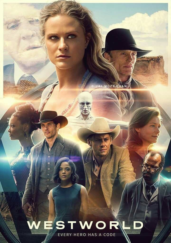 Westworld Dolores Ford Teddy Maeve Arnold Bernard Poster