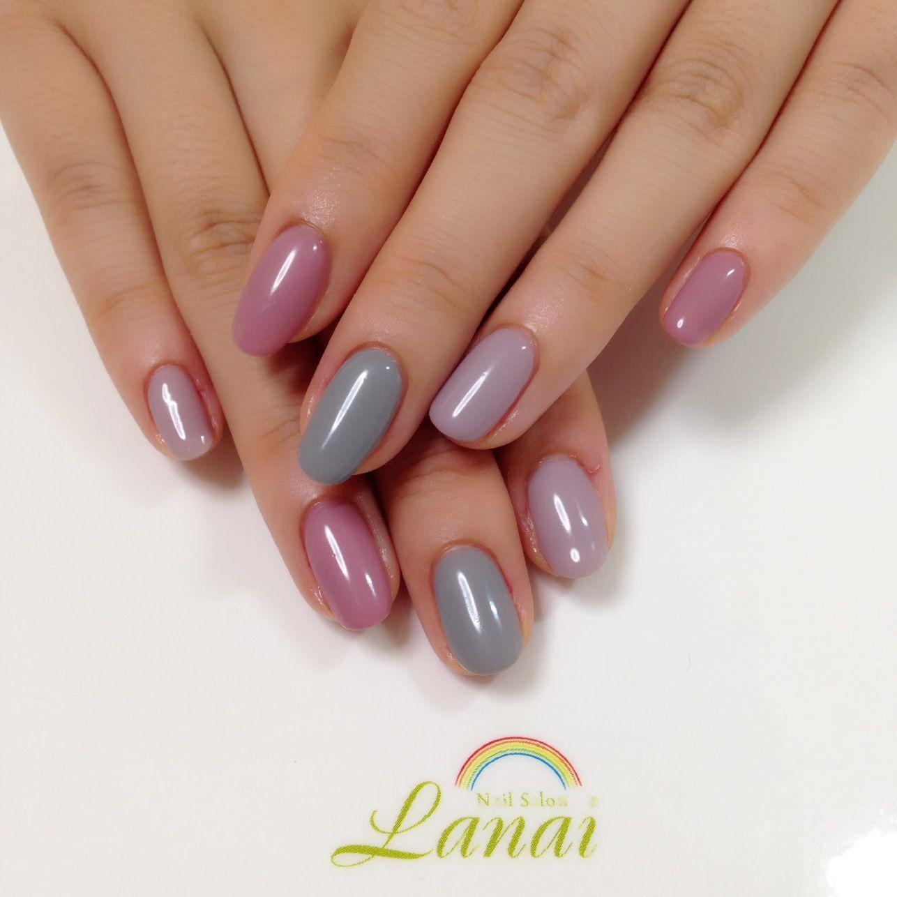単色色違いネイルのコツ&デザイン|人気のピンクやグレーなどの