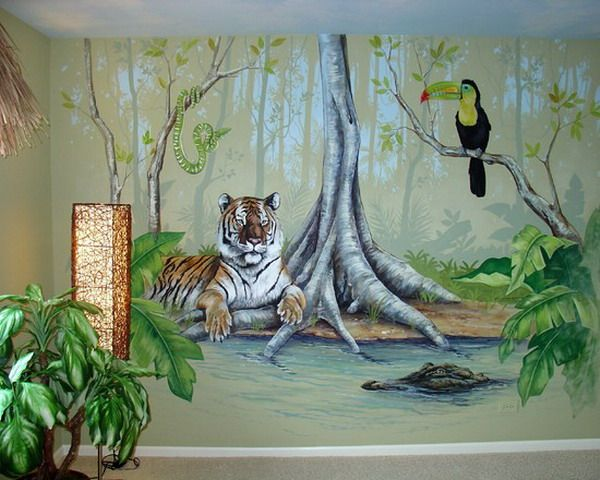 beautiful jungle wall murals ideas jungle kids wall murals rh pinterest com