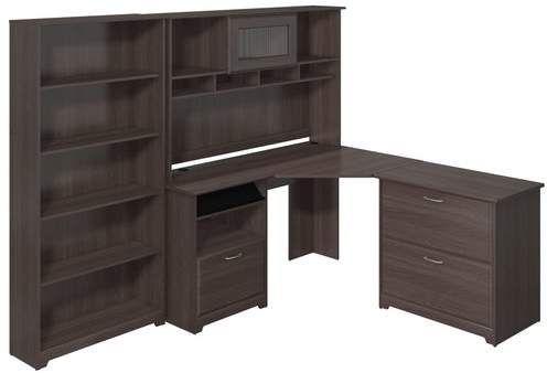 red barrel studio hillsdale corner desk with hutch lateral file and rh pinterest com