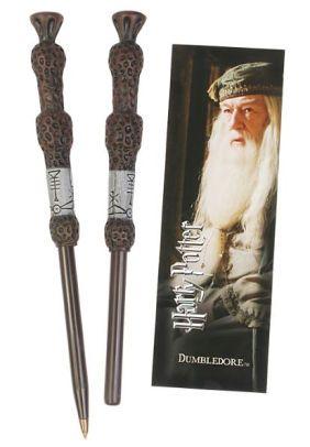 Harry Potter Dumbledore Wand Pen and Bookmark Set