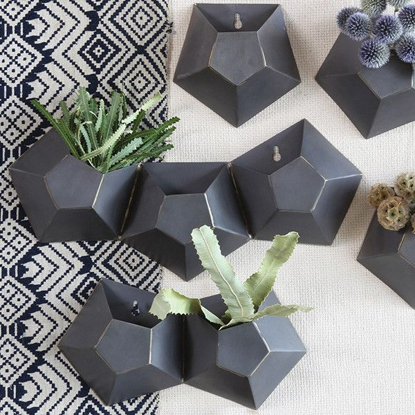 Hexagonal Wall Planter Products Wall Planters Metal Wall Planters