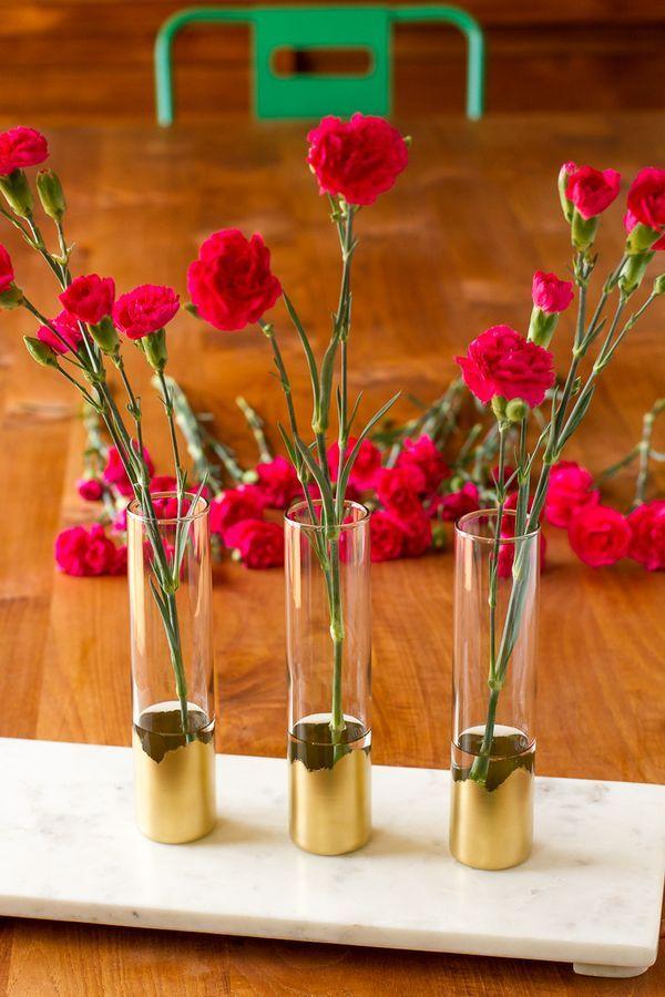 gilded gold glass bud vases all this simple diy vase idea rh pinterest ca