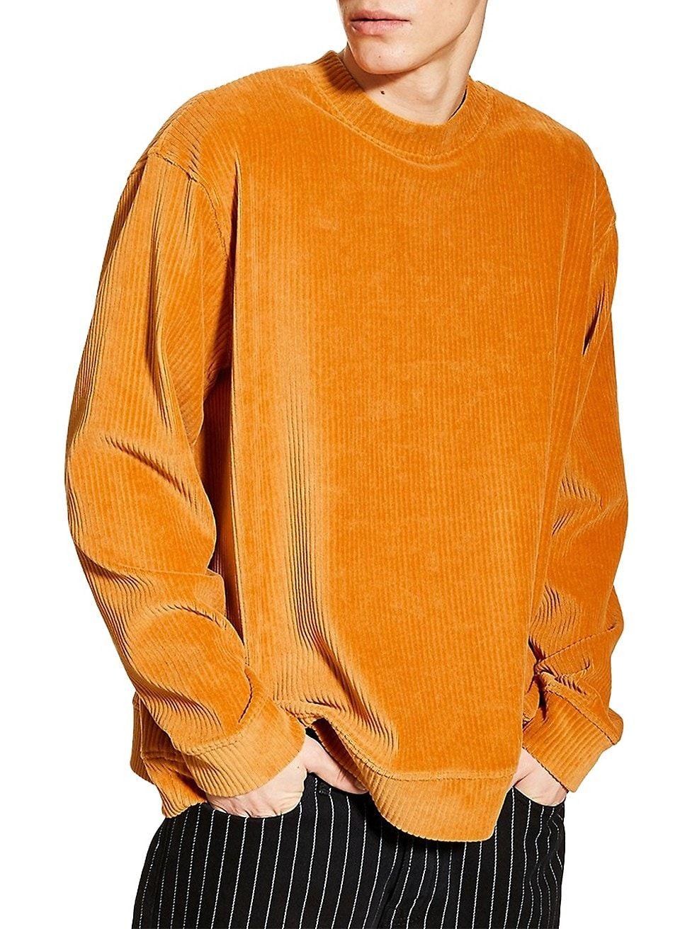 Topman Corduroy Velour Sweatshirt Mens Thebay Indie Clothing Mens Tee Shirt Designs Indie Outfits [ 1312 x 984 Pixel ]