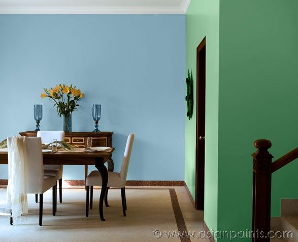 play analogous colour schemes in the dining and staircase space rh pinterest com