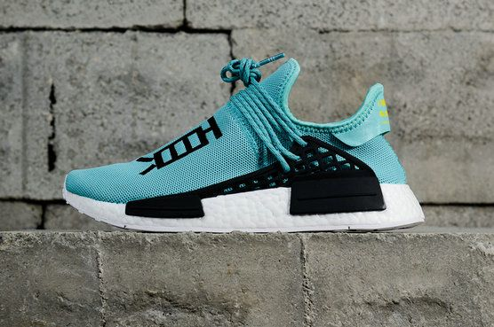 new concept fca6b 59923 Latest and Cheapest Pharrell Williams x ADIDAS Originals NMD Human Race TR  Blue Black Noir White blanc Youth Big Boys Sneakers