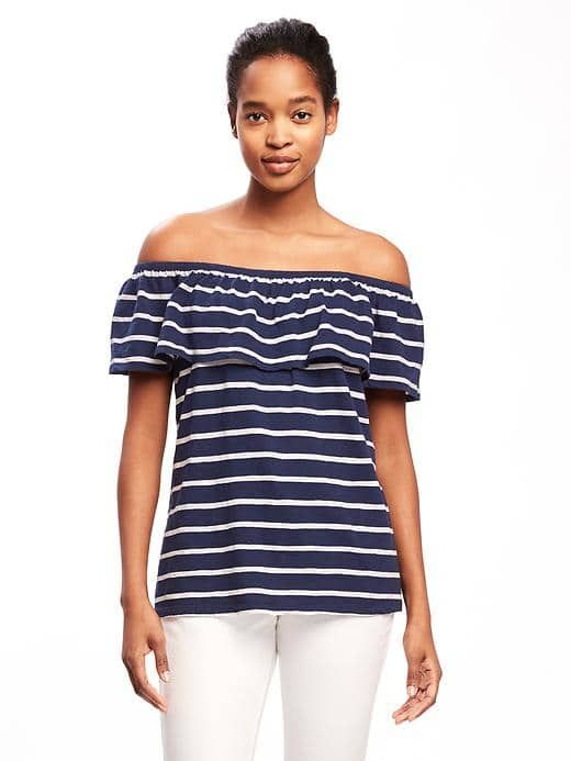 ab1da02b8956eb Relaxed Off-the-Shoulder Swing Top for Women