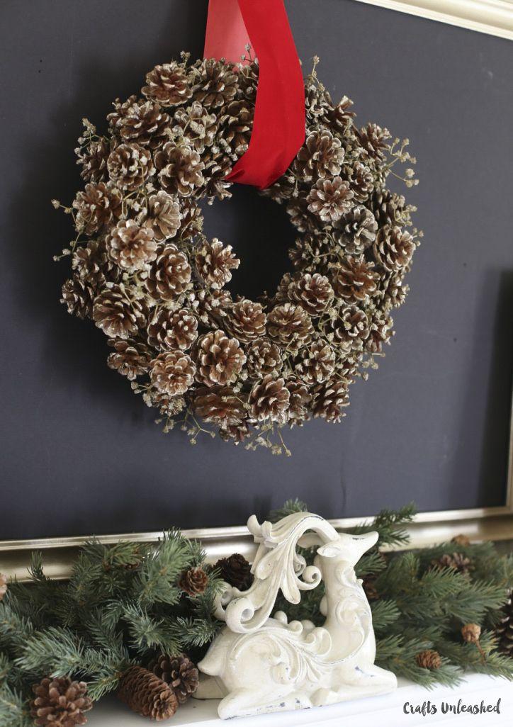 DIY Pine Cone Wreath courtesy of Crafts