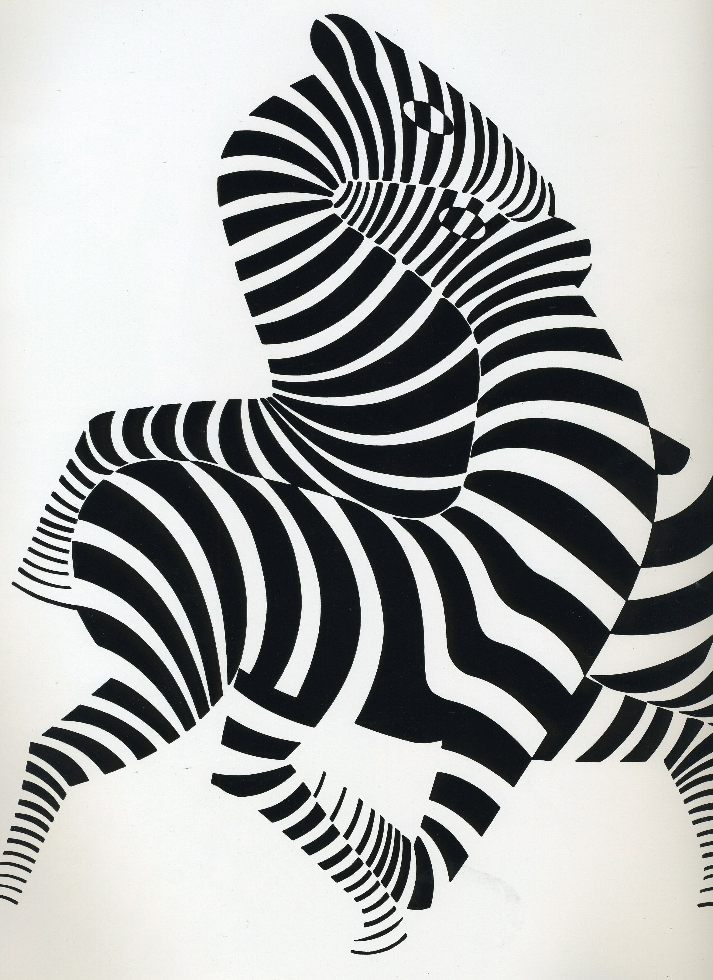 Zebras positive negative space pattern by artist victor vasarely zebras positive negative space pattern by artist victor vasarely altavistaventures Images
