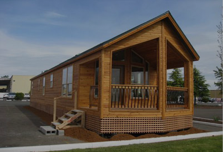 Cute, Cheap Little Modular Log Cabin Homes Like This Are