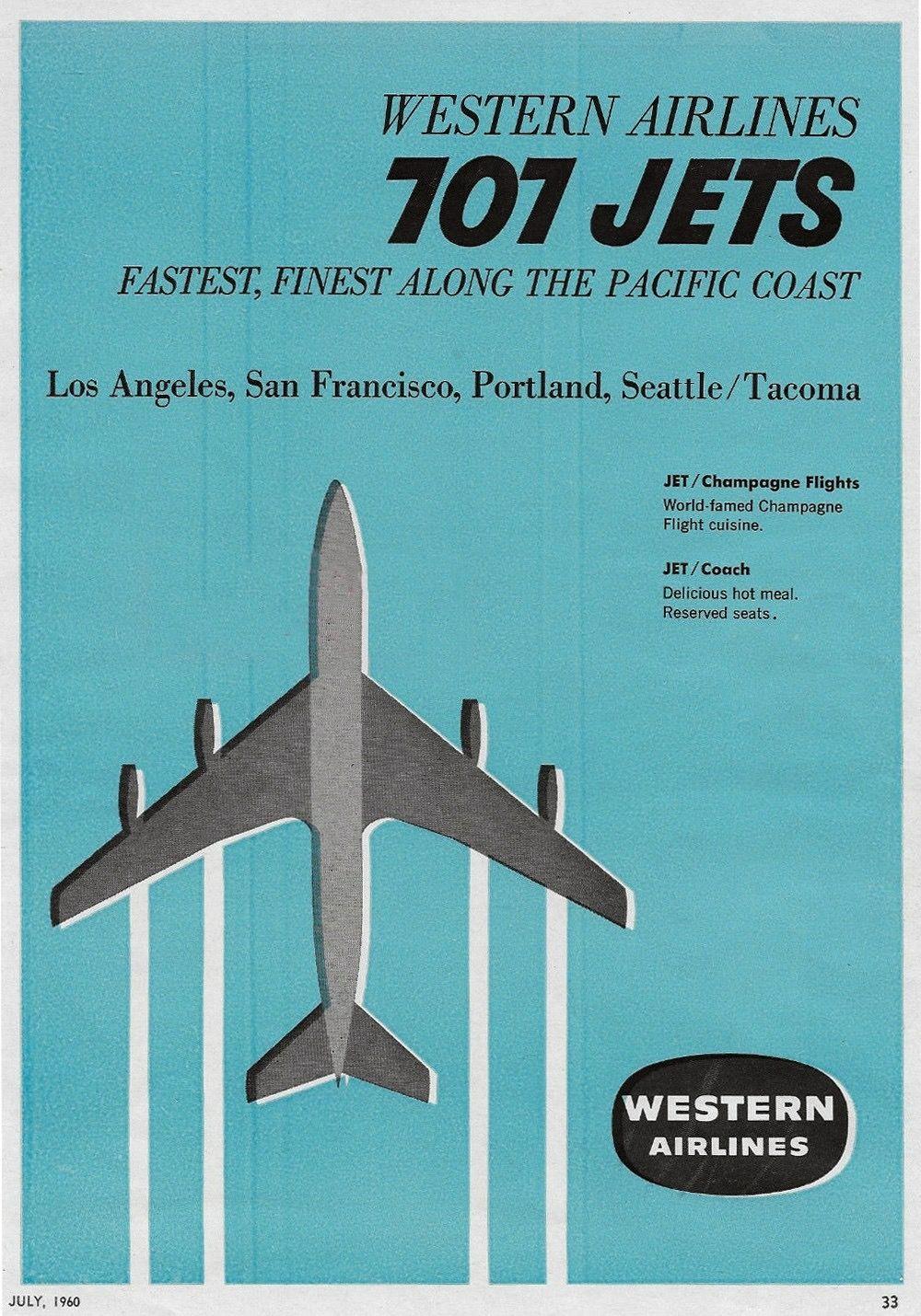 western airlines 1960s travel themed decor vintage travel rh pinterest com