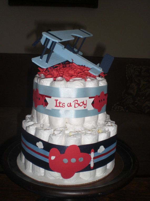 airplane diaper cake baby shower centerpiece or gift other sizes and rh pinterest com