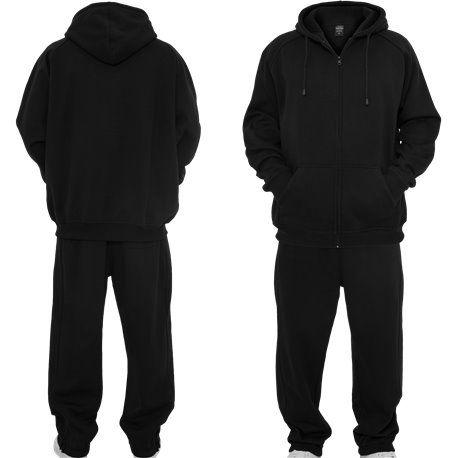 Urban Classics Blank Suit Men Sweat Suit black | Black