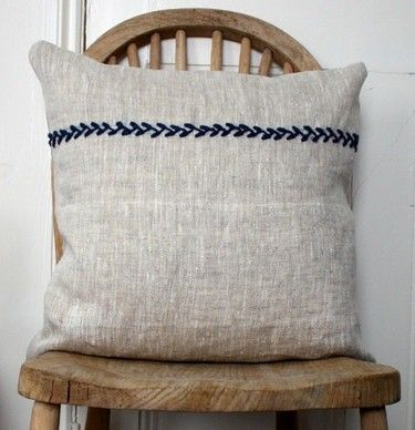 embroidered linen cushion cover from houzz com favorite things rh pinterest com