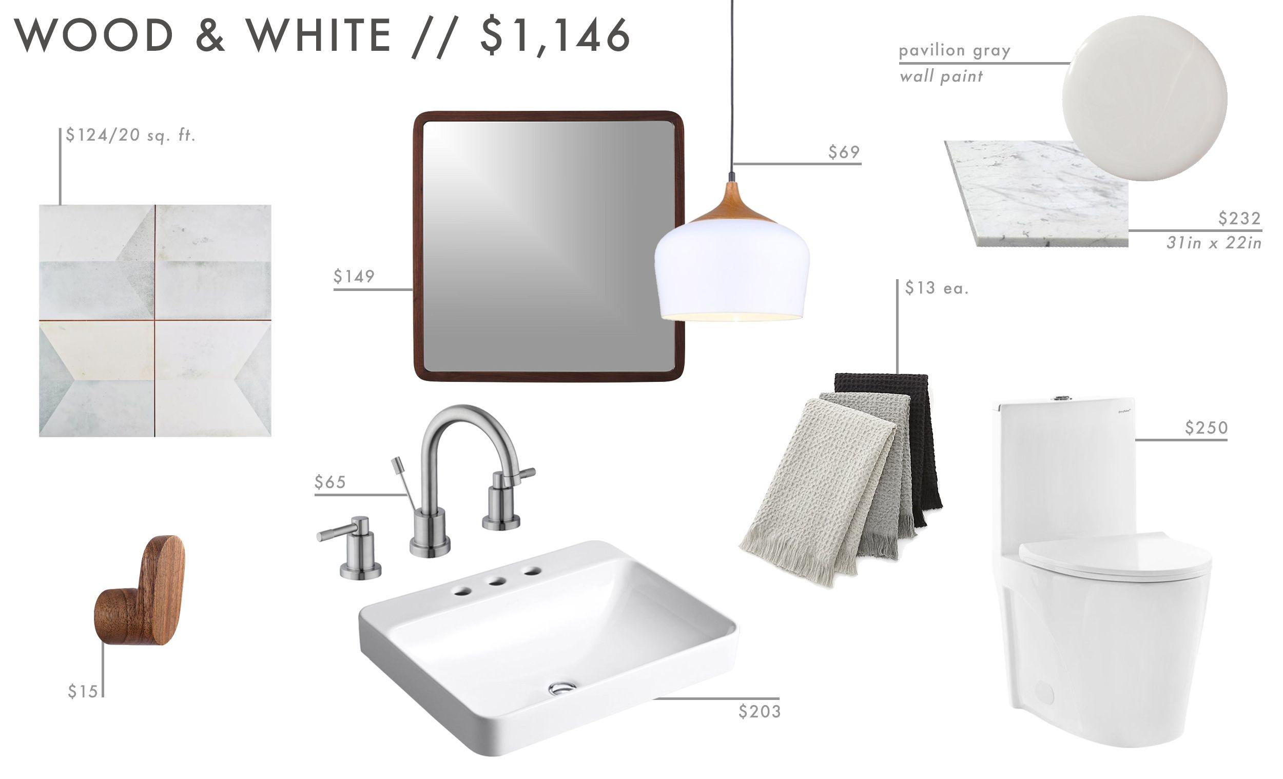 9 affordable budget powder room designs aka the 1 2 bath olive rh pinterest com