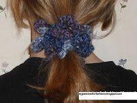 Crocheted Scrunchie Pattern #crochetscrunchies Crocheted Scrunchie Pattern #crochetscrunchies