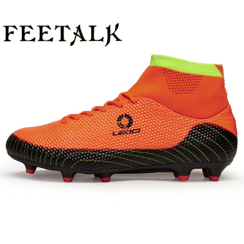 d2eb91c24 Size 33~45 Men Boy Kids Soccer Cleats Turf Football Soccer Shoes TF Hard  Court