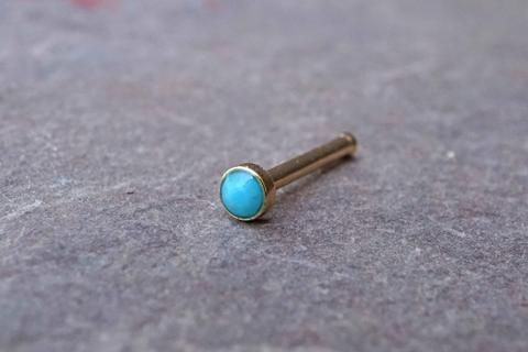 40mm Turquoise Gold Nose Bone Gold Nose Stud Nose Ring Want Please Magnificent Dream Catcher Nose Ring