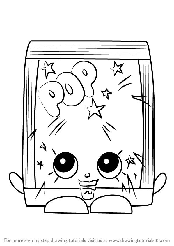How To Draw Poprock From Shopkins Drawingtutorials101 Com