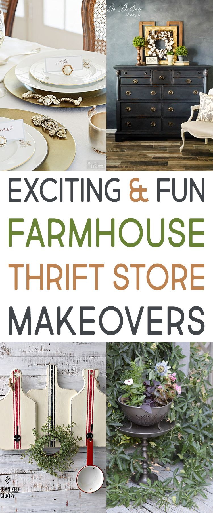 exciting and fun farmhouse thrift store makeovers best of the rh pinterest com