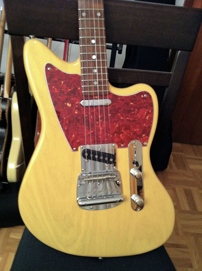 Jazzcaster With Mustang Trem Fender Style Guitar