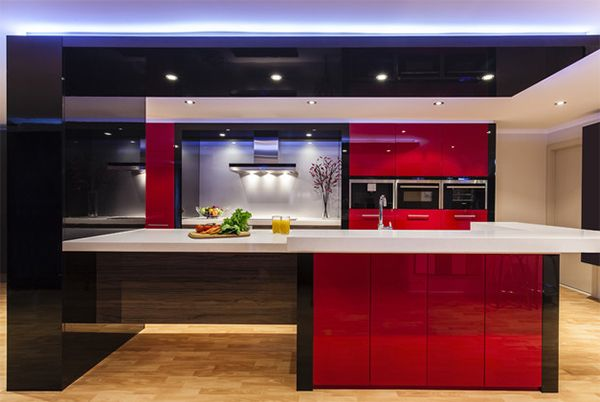 Color Scheme Idea 20 Red Black And White Kitchen Designs  Home Endearing Kitchen Design Red And Black 2018