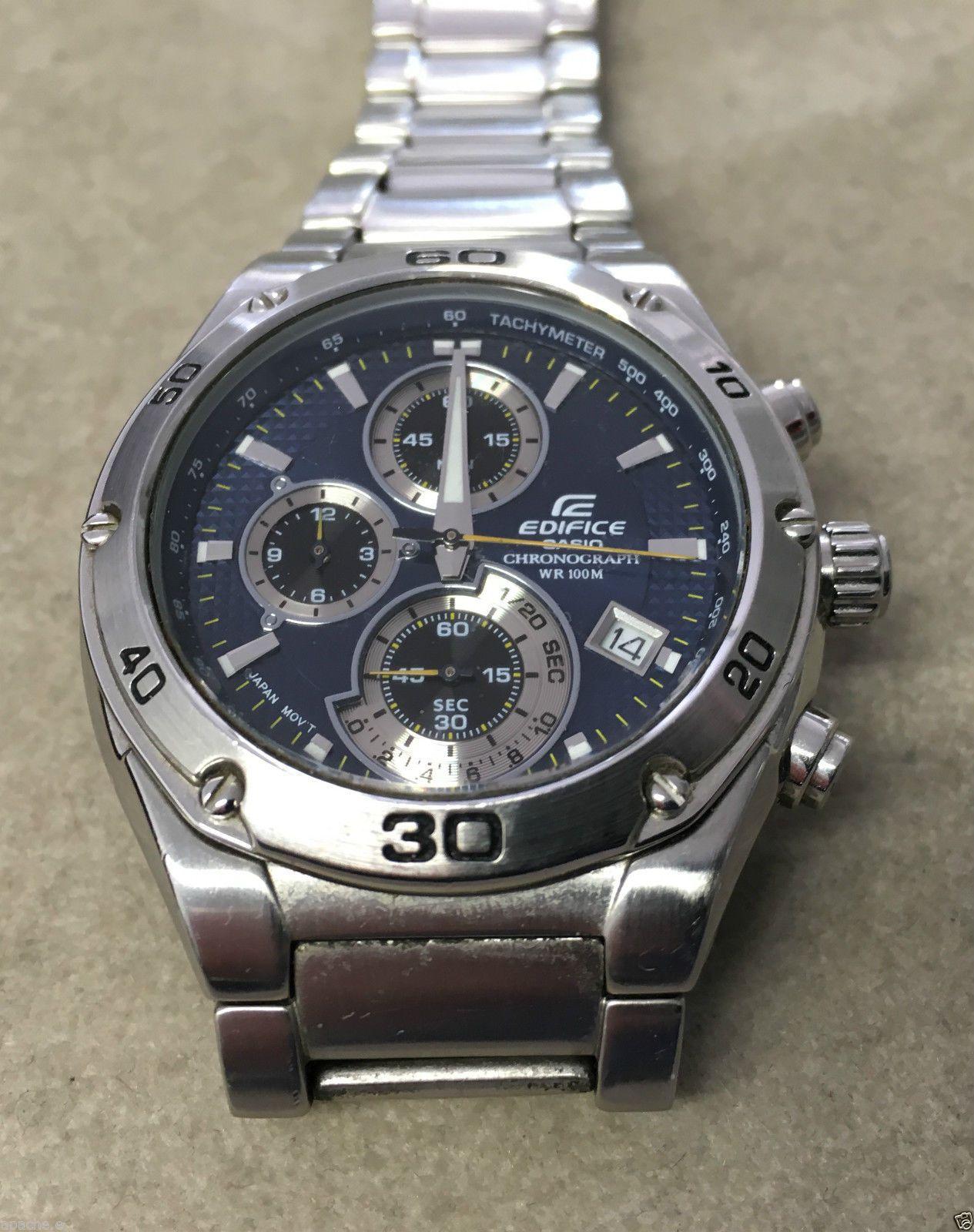 602fd6b30ad8 Casio Edifice chronograph ef-517 4389 reloj de pulsera para caballeros