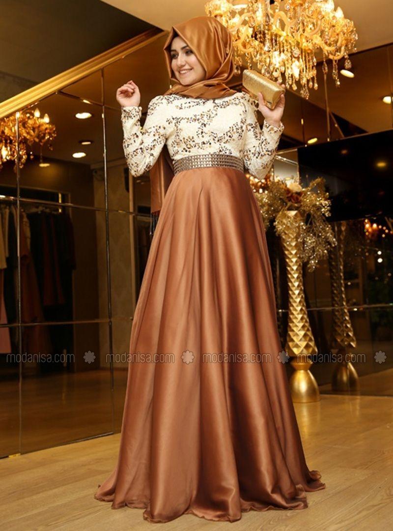 Magical Evening Dress - Brown - Pınar Şems  Formale abendkleider