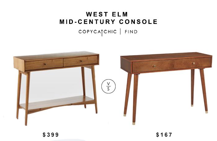 West Elm Mid Century Console Copycatchic Mid Century Console Mid Century Modern Console Table West Elm Mid Century